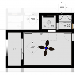 "Type A Ceiling Plan | 3/16"" = 1'-10"""